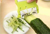 corte de cuchillo de fruta libre al por mayor-Multifuncional Pelador verde escalable portátil de dos vías giratorio cuchillo de corte de frutas vegetales Shred Great Kitchen Tools envío gratis