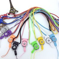 Wholesale Neck Ring Wrist - Detachable Long Lanyard Neck Strap Rotatable Mobile Phone Strap Hand Wrist String With Ring For Cell Phone iPhone Samsung