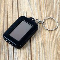 mehrfarbig geführtes keychain groihandel-HOT Solar Power Keychain Super Cool LED-Taschenlampen-Licht-Lampe Mini Schlüsselanhänger 3 LED Mehrfarben Wiederaufladbare freies DHL TNT Fedex