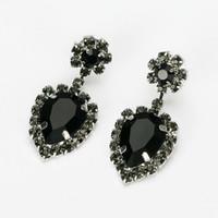 Wholesale Earrings Drop Gold Rhinestone Crystal - Hop bijouterie earring studs women's handbags droplets shining gold & silver plated crystal drop earrings women E248