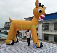 Wholesale Deco Statue - Hot sale giant inflatable Christmas reindeer statue, inflatable Christmas reindeer   outdoor Christmas deco for Xmas holiday