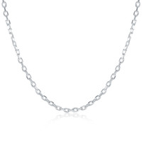 Wholesale High quality MM inches sterling silver Square Chain necklace fashion jewelry Brand New Unisex Chains Necklace