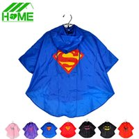 spiderman raincoats for kids - 2pc Kids Rain Coat Superman Batman Spiderman Rainwear Boys Girls Waterproof Kid Raincoat Clothes Superhero for Children Rainsuit