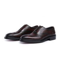 Wholesale point coffee - Designer Fashion Coffee Men Wedding Shoes New Arrival Pointed Toe Patent Leather Shoes Man Plus Size Black Party Shoes Hombre Zapatos