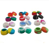 Wholesale Round Test - 100% Food Grade 3ML 5mL 7mL Dabber Silicone Oil Containers Round Concentrate Oil Wax Jars Dab Wax Container For Dabs Pass FDA&LFGB Test