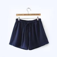 Wholesale Woman Korean Short Pants - Hot Sale Plus Size Women's Clothing Solid Elastic Waist Shorts 2017 Summer Large Size Loose Multicolor Short Pants Korean Cotton Short