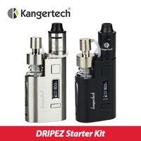 Wholesale Ez Box - Wholesale- Original 80w Kanger DripEZ Starter Kit Box Vape Mod w  Pump And Push RBA 0.3Ohm Drip coil 0.2Ohm Drip EZ Kit E Cigarettes