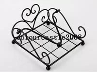Wholesale Holders Wrought Iron - Wholesale- 2014 New wrought iron napkin holder tissue box Tissue paper holder tissue rack wedding party supplies free shipping