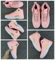 Wholesale womens boots 12 - 2017 New 12 XII Women Basketball Shoes Pink 12s Womens Sneakers Cheap Boot Basket ball Trainers Sport Shoes Eur 36-40