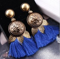 5 Pairs Big Lion Head Tassel Statement Brincos Dangle para mulheres Exagerados Vintage Drop Earring Jewelry Accessories