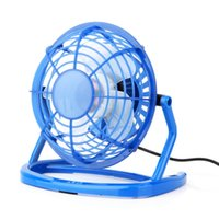 Portable DC 5V Small Desk USB 4 Blades Cooler Ventilateur USB Mini Fans Opération Super Mute Silent PC / Laptop / Notebook