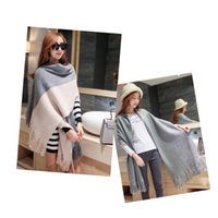Wholesale Oversized Knitted Scarf - Winter Fashion Warm cape Shawl Christmas Gift Knitted scarves Scarf Oversized Scarf women Shawl Scarf Scarves Free Shipping