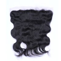 Wholesale Brazilian Hair Frontals - Brazilian Body Wave 13x4 Ear To Ear Pre Plucked Lace Frontal Closure With Baby Hair Remy Human Hair Free Part Top Frontals