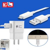 Wholesale 2a Wall - Travel Wall Charger AAA+ 5V 2A 9V 1.67A Adaptive Fast Charging +1.5M V8 cable for Samsung S7 S8 With the LOGO