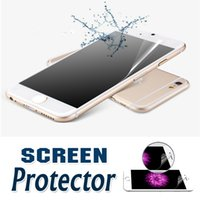 Wholesale Lcd Film Guard Cleaner - Front Transparent Clear LCD Screen Protector Guard Film With Cleaning Cloth For iPhone 7 Plus Samsung Note 5 4 A9 A8 A7 A5 A3 Sony Z5