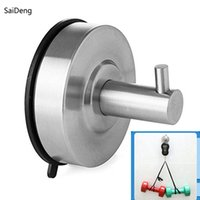 Wholesale Key Holders For Wall - Wholesale- SaiDeng Bathroom Hooks for Clothes Towel Wall Hook Kitchen Stainless Steel Strong Suction Cup Key Hat Bag Hanger Rack Holder