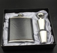 Wholesale Girl Sexy Bag Hip - 2017 Hot selling Personalized 4 Pieces Stainless Steel 6-8 oz Portable Hip Flask in Gift Box DHL free in good price