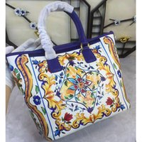 Wholesale Portable Flower Shop - 2017 spring and summer new blue blue and white porcelain, single shoulder portable bag, flower printing color printing shopping bag