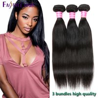 Mink 7A Brazilian Straight Extensions 3 Bundles 100% UNPROCESSED Malaio Indian peru Virgin Human Hair Wefts Dyeable Wholesale Cheap