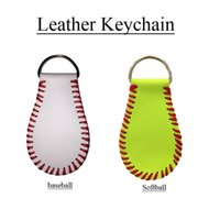 Wholesale Wholesale Personalized Keychains - 2017 Softball Baseball Keychains, Personalized Sports Keychains Favorite Player, Stat Keychain
