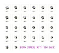 Wholesale Square Alphabet Beads - 260 PCS Tibetan silver alphabet square spacer letter beads A494