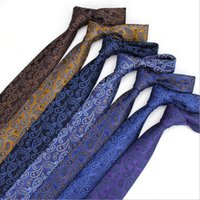 Wholesale Groom Tie Cravat - Floral Ties For Men Skinny Mens Ties Gravatas Slim Corbatas Vestidos Wedding Cotton Groom Neck Tie Cravat Neckties