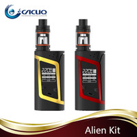 Wholesale Electronic Cigarettes Displaying - authentic smok alien 220w starter kit electronic cigarettes with OLED display Alien 220 Mod TFV8 Baby Tank smoktech alien vape kit