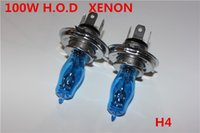 Wholesale H4 Halogen Bulbs Hod - Wholesale-2 x H4 12V 6000K   2900k 100w Super White  Warm white High Beam Low Beam Auto Car HOD Halogen Bulbs Lamps Headlight Bulbs