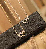 Wholesale Europe Style Necklaces - Spot wholesale Wish Love Necklace Jewelry Europe and the United States Misha Barton same style wishing love necklace wholesale free shipping