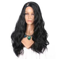 senhora indiana cabelo comprido venda por atacado-U Parte Perucas de cabelo Natural Onda Natural Malaio Peruano Indiano Virgem Do Cabelo Brasileiro 180% de Alta Densidade Longo Ondulado Glueless Perucas Do Laço 8-24 polegada