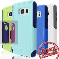 Wholesale Protective Edging - Commuter Hybrid 2 in 1 Armor Cases Protective Cover Case For iphone 7 5s 6s 6plus Samsung Galaxy S6 S7 Edge s8 plus