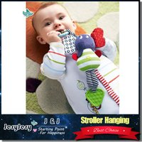 Wholesale Infant Music Toys - Music Elephant Hanging Baby Infant Kids Soft Dolls Educational Plush Toys Teether Bed Stroller Bell Rattle Toys
