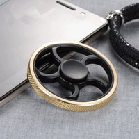 Wholesale Toy Free Wheels - Brass Fidget Spinner Hand Spinner Round free wheel Shape Novelty EDC Toys For Decompression Anxiety Finger Toys Stress Relief