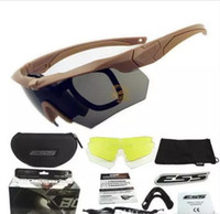 Wholesale Ballistic Glasses - Wholesale-2017 Exellent Quality ESS CREDENCE Military Glasses Eyewear Tactical Glasses Shooting Ballistic Polarized Goggles with case