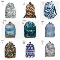 Drawstring Bags oxford digital - 9 style D digital printing bag EMOJI HEART oxford outdoor travel backpack new student shoulder bags women men backpack fashion style