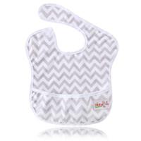 Wholesale Wholesale Infant Pocket Bibs - Ohbabyka Baby Feeding Waterproof Pocket Superbib Big Ergonomic Easy Clean Adjustable Hook-Loop Bibs Infant Burp Apron Clothes