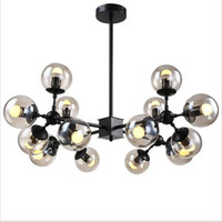Wholesale modo chandelier - New design led glass chandelier 16 light glass pendant light ceiling droplight MODO DNA north Europe industrial lighting fixture