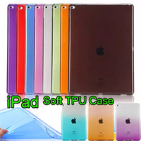 Wholesale Jelly Case Ipad - Soft TPU Transparent Gradient Ultra Thin Jelly Protective Case Cover For New iPad Pro 12.9  9.7 inch iPad air 2 mini 234 ipad 2 3 4