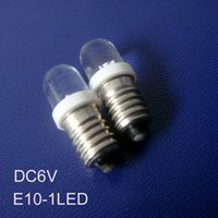Wholesale 6v Indicator - Wholesale- High quality 6V E10 led Indicator light,car led E10 bulb,led bulb E10 6.3V Dashboard Warning Indicator free shipping 10pcs lot