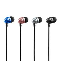 Wholesale Long Plug Earphones - New Earphones Plug Ear Style Headphones Subwoofer Long Wire Sport Headset Sweatprof Waterproof Outdoor Earpriece Receiver Leisure B16