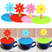 2 xícaras de tampa Silicone Cute Anti-dust Glass Cup Cover Caneca de café Suction Seal Lid Cap
