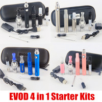 Wholesale Skillet Kit - 2017 eVod 4 in 1 vaporizer starter kits ce3 tank vape kit dry herb dab pen skillet glass Mt3 wax oil vapes pen kit 100% Quality
