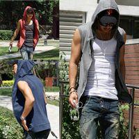 Wholesale assassin hoodies - Hoodies Black Cotton Tracksuit Mens Sport Suit Gym Hoodies And Sweatshirts Sleeveless Hoodie Assassins Creed Moleton M-2XL