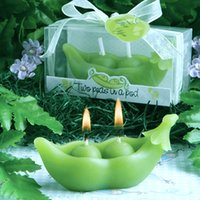 Wholesale Candle Souvenirs Birthday - Two Peas In A Pod Candle For Wedding Party Birthday Souvenirs Diy Ideas Decoration Baby Birthday Party Scented Candles Birthday Candle