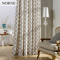 Wholesale Printed Curtain Panels - Norne Printed Blackout Room Darkening Curtain,Window Panel Drapes Thermal Insulated Privacy Assured curtains for Living Room Bedroom.