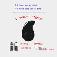 Wholesale Clip Bluetooth Headset Mini - Fashion Ear Clip S530 Mini Wireless Mini Bluetooth Headset Stereo Stealth Headphones Earphones with earphones Ultra-small hidden with packag