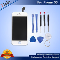 Wholesale Digitizer Iphone Tool White - LCD Display Touch Screen Digitizer Full Assembly For White iPhone 5S Replacement Repair Parts with Tools