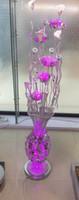 Wholesale Decorative Porcelain Flowers - Manufacturers selling warm white creative decorative lamp silver vase porcelain flower lamp aluminum wire room study lamp