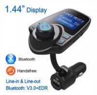 Wholesale Charger Music Box - New Car Charger Adapter Bluetooth T10 Music LCD Kit FM Transmitter Audio Receiver MP3 Player USB Handsfree with Retail Box OM-K1