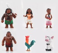 Wholesale Moana Princess Maui Waialik Heihei Action Figures Toy Collection Model Toy set Gifts cm